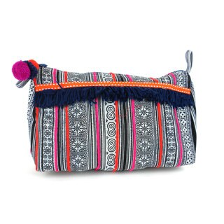 Handmade Indigo Hmong Batiked Toiletry Bag - Global Groove (Thailand)