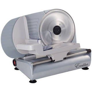 Excalibur Stainless Steel 8.75-inch Household Meat Slicer
