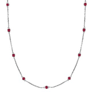 14k Gold 1.25ct Rubies Gemstones by The Yard Station Necklace