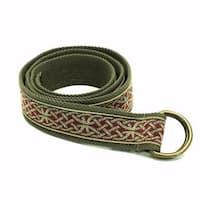 Kavu Men's Olive Web 46-inch Long x 1.5-inch Wide Large D-ring Buckle Belt