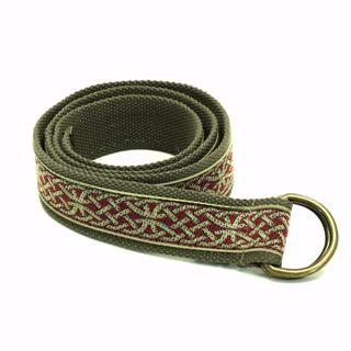 Kavu Men's Olive Web 46-inch Long x 1.5-inch Wide Large D-ring Buckle Belt