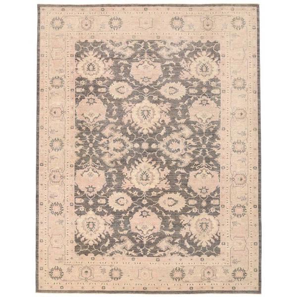 Herat Oriental Afghan Hand-knotted Vegetable Dye Oushak Wool Rug (9' x 11'10) - 9' x 11'10