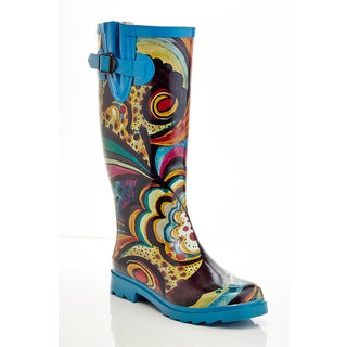 Henry Ferrera Women's Multicolored Rubber Monet-print Rain Boots