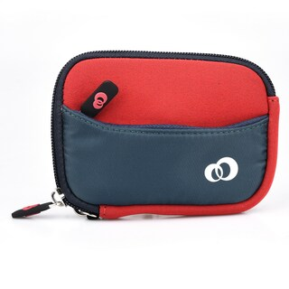 Kroo Mini Scoop 2 Neoprene Ultra Compact 3.5-Inch Digital Camera Pouch Case (Option: Red)
