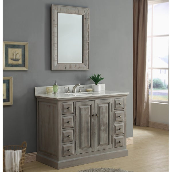 65 Inch Bathroom Vanity Single Sink: Shop Rustic Style 48 Inch Single Sink Bathroom Vanity With