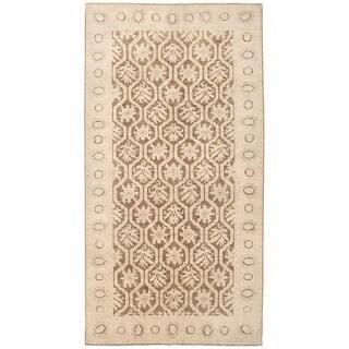 Herat Oriental Afghan Hand-knotted Vegetable Dye William Morris Wool Rug (6'4 x 12')