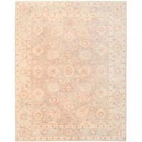 Herat Oriental Afghan Hand-knotted Vegetable Dye Oushak Wool Rug (7'10 x 9'10) - 7'10 x 9'10