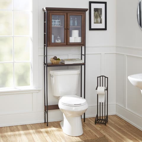 Leighton Bathroom Collection 3-Tier Spacesaver with Glass Doors