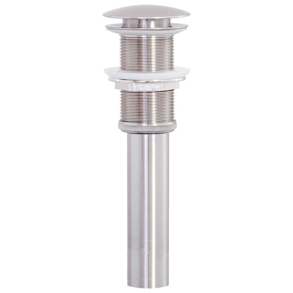 Brushed Nickel Umbrella Drain Less Overflow. Opens flyout.