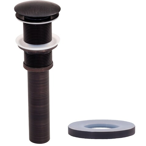 Novatto Vessel Sink Pop-Up Drain and Mounting Ring, Oil Rubbed Bronze