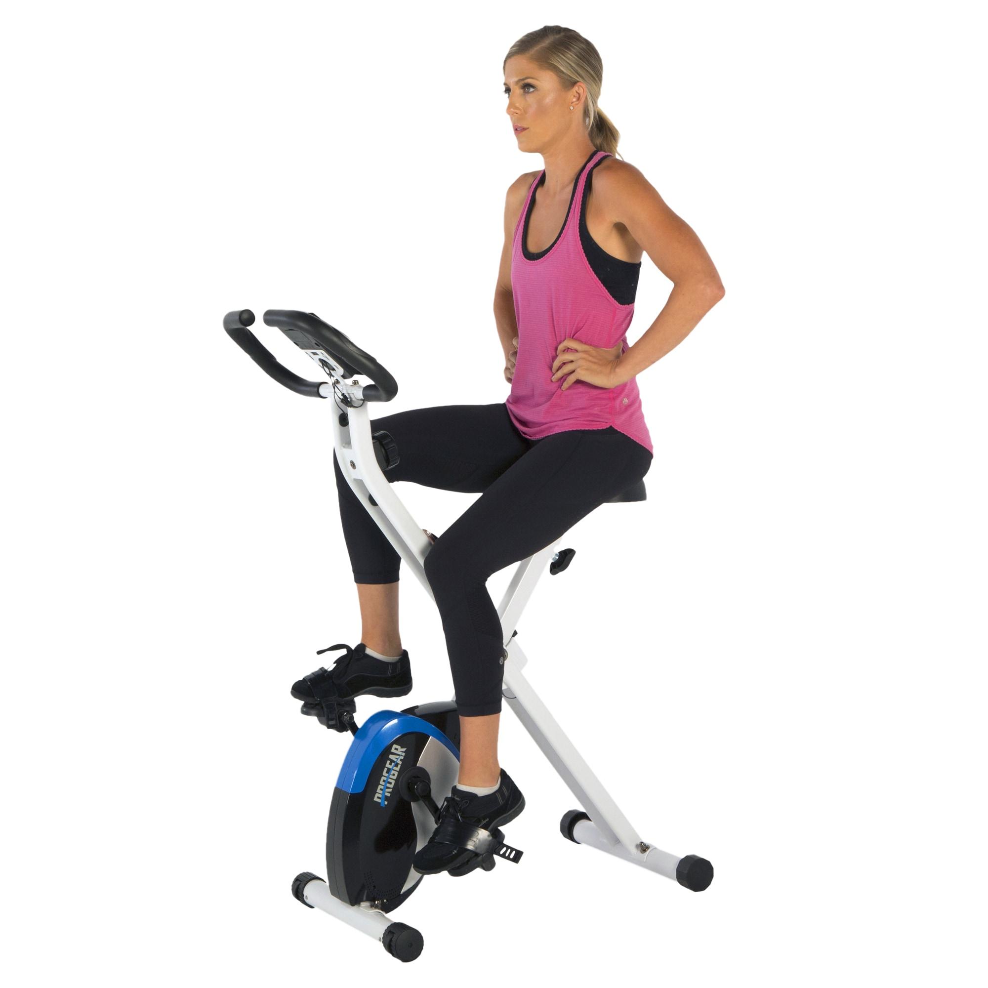 Shop Progear 225 Foldable Magnetic Upright Heart Pulse Bike ...