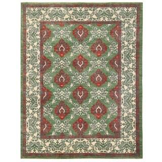 Herat Oriental Afghan Hand-knotted Vegetable Dye William Morris Wool Rug (9'6 x 12'3)