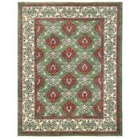 Herat Oriental Afghan Hand-knotted Vegetable Dye William Morris Wool Rug (9'6 x 12'3) - 9'6 x 12'3