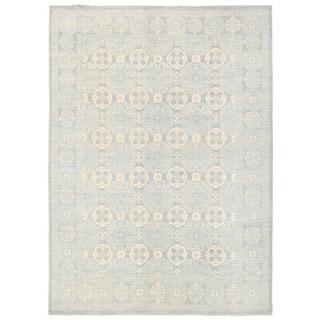 Herat Oriental Afghan Hand-knotted Vegetable Dye Khotan Wool Rug (9' x 12'5)