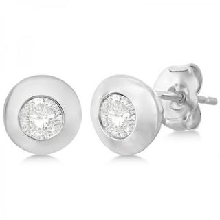 14k Gold 0.50ct Diamond Solitaire Stud Earrings in