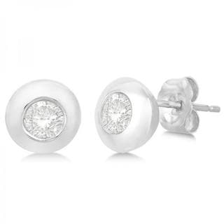 14k Gold 0.65ct Round-Cut Diamond Solitaire Stud Earrings in