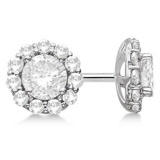 14k Gold 2.50ct . Halo Diamond Stud Earrings (H, SI1-SI2)