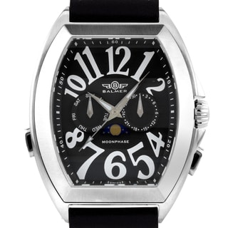 Balmer Cobra Elegante Men's Swiss Master Calendar watch, Sapphire, genuine leather , Superluminova numerals and hands