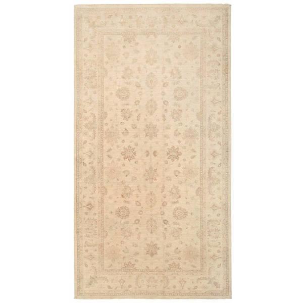 Herat Oriental Afghan Hand-knotted Vegetable Dye Oushak Wool Rug (6'7 x 12'8) - 6'7 x 12'8
