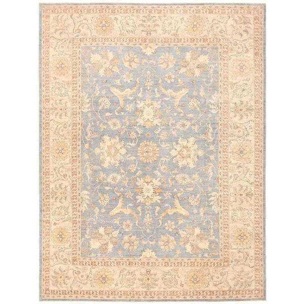 Herat Oriental Afghan Hand-knotted Vegetable Dye Oushak Wool Rug (8'10 x 11'10) - 8'10 x 11'10