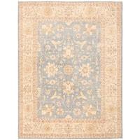 Herat Oriental Afghan Hand-knotted Vegetable Dye Oushak Wool Rug (8'10 x 11'10) - 8'10 x 11'10