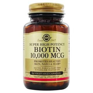 Solgar Biotin 10,000 Mcg (60 Vegetable Capsules)
