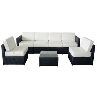 7 PC Cozy Outdoor Garden Patio Rattan Wicker Furniture Sectional Sofa