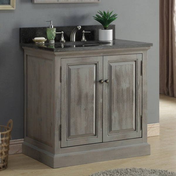 Shop Rustic Style 36 Inch Single Sink Bathroom Vanity