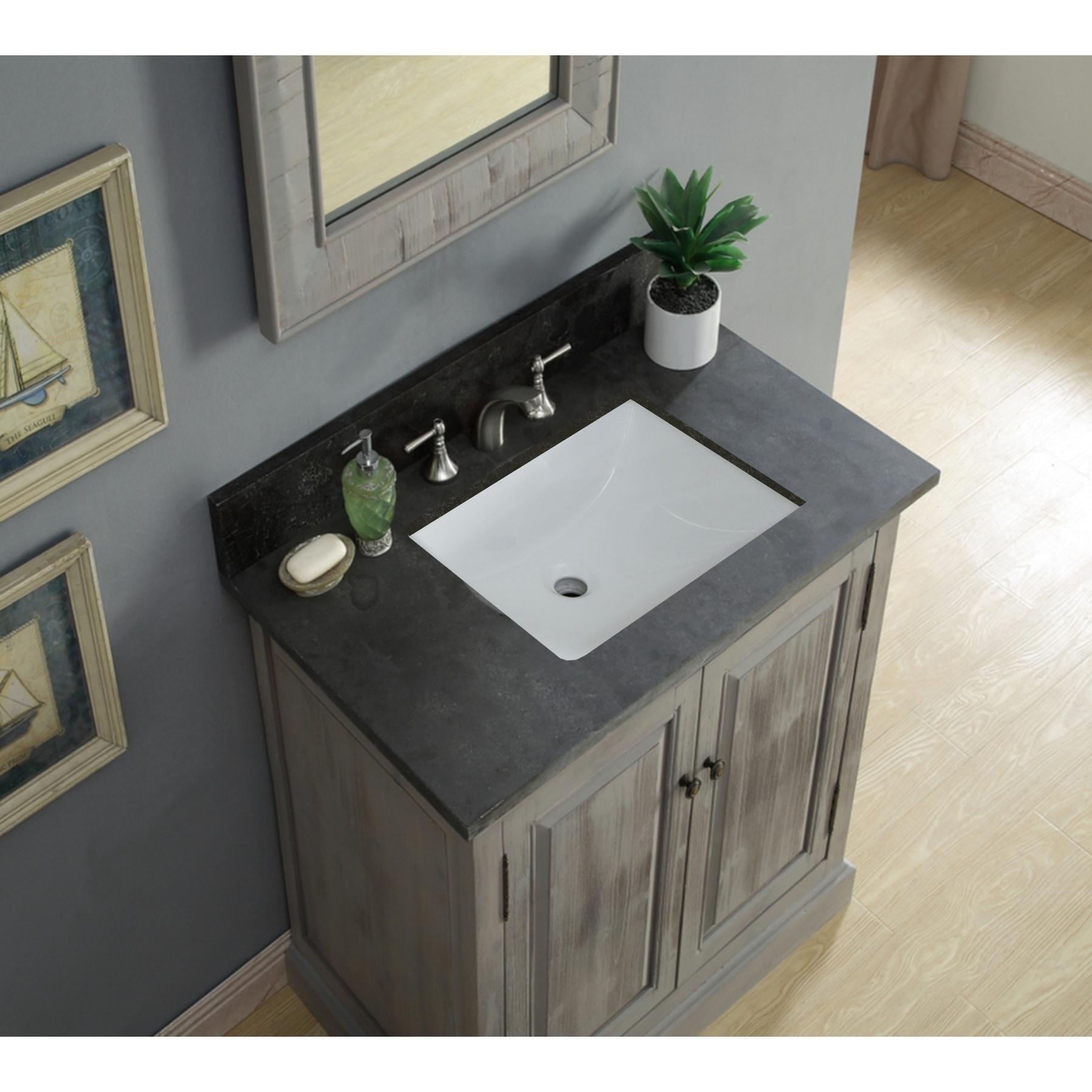 Rustic Style 36-inch Single Sink Bathroom Vanity N/A ...