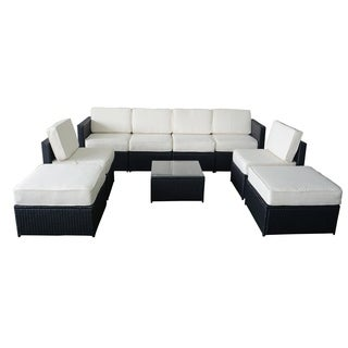 9 PC Cozy Outdoor Garden Patio Rattan Wicker Furniture Sectional Sofa