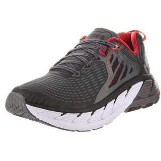 Hoka One One Men's M Gaviota Black Synthetic-leather Running Shoes