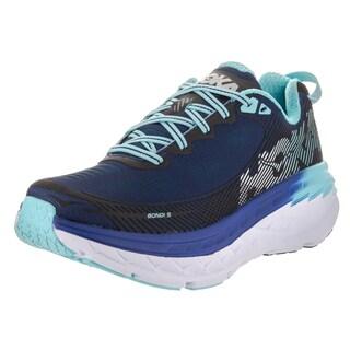 Hoka One One Women's W Bondi 5 Blue Synthetic Leather Running Shoe