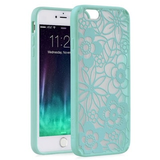 Vena Damask Vintage Green Silicone iPhone Case