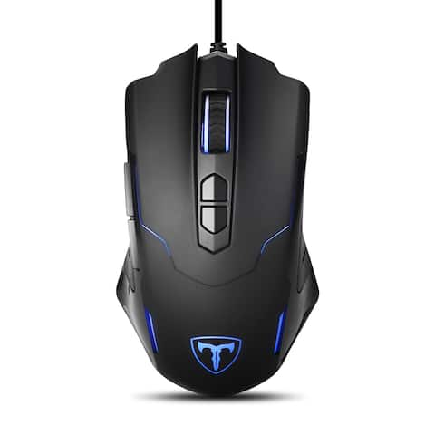 7200DPI Programmable Gaming Mouse for PC With Soothing LED Color and Support Macro Editor