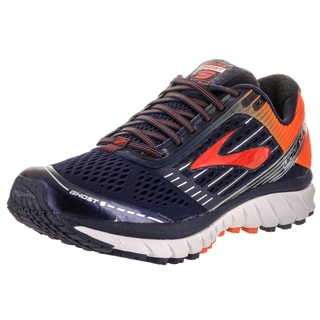 Brooks Men's Ghost 9 Blue Synthetic-leather Running Shoes