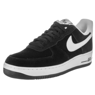 Nike Men's Air Force 1 '07 Black and White Suede Basketball Shoes