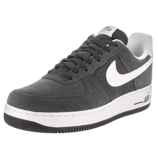 Nike Men's Air Force 1 '07 Grey Suede Basketball Shoes