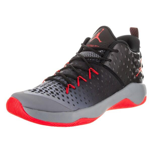 883d9377973 Nike Jordan Men  x27 s Grey  Orange Jordan Extra Fly Basketball Shoes