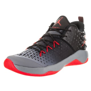 Nike Jordan Men's Grey/ Orange Jordan Extra Fly Basketball Shoes