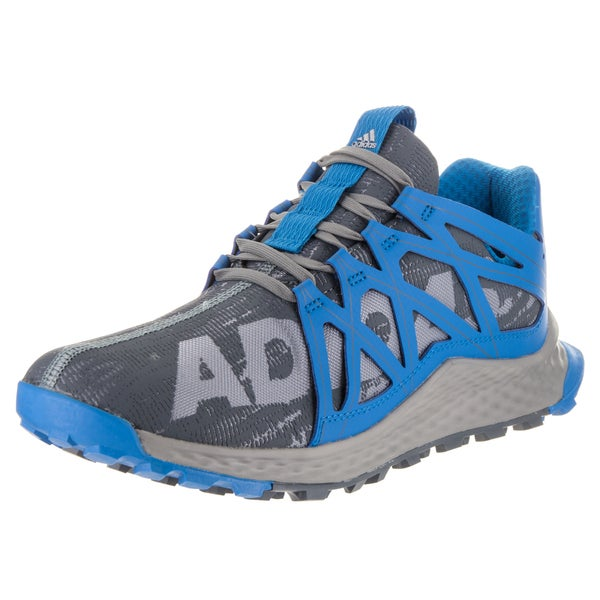 a3ff6dfe1ffd8 Adidas Men  x27 s Vigor Bounce Grey and Blue Synthetic Leather Running Shoe
