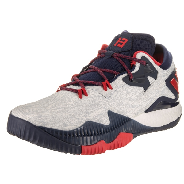 abdc9adb Shop Adidas Men's Crazylight Boost Low 2016 White Basketball Shoes ...