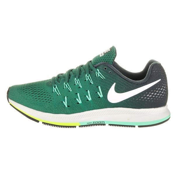 Shop Nike Men's Air Zoom Pegasus 33 Green Running Shoes