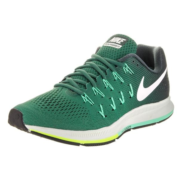Shop Nike Men s Air Zoom Pegasus 33 Green Running Shoes - Free ... 87b6d9922