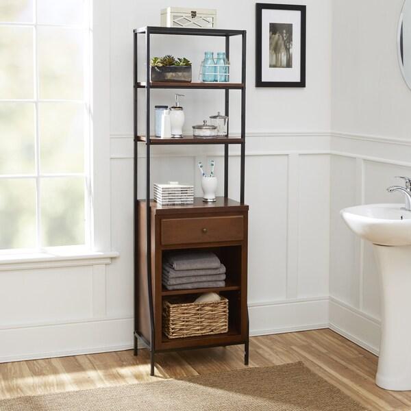 shop leighton bathroom collection storage linen cabinet - overstock - 14163334