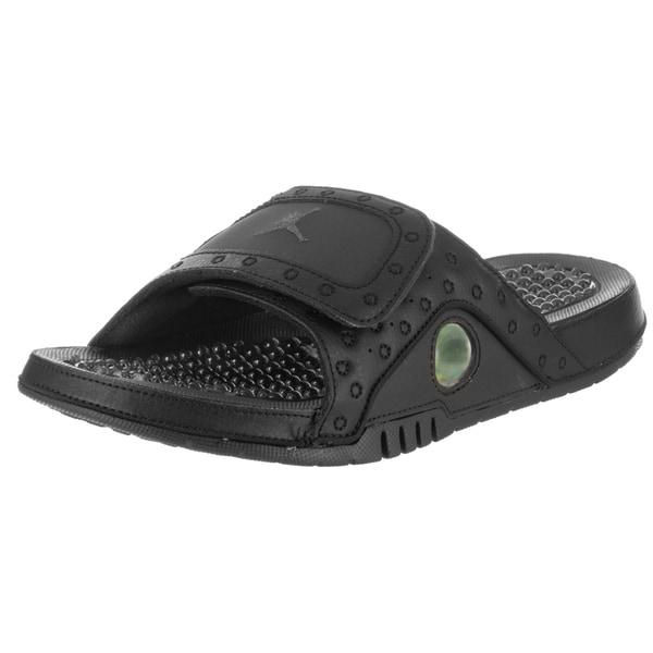 d3557ef5ed44d3 Nike Jordan Men  x27 s Jordan Hydro XIII Black Synthetic-leather Retro  Sandals