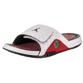 Nike Jordan Men's Jordan Hydro XIII White Synthetic-leather Retro Sandals