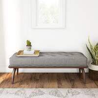 Carson Carrington Mid-century Grey Tweed Platform Bench