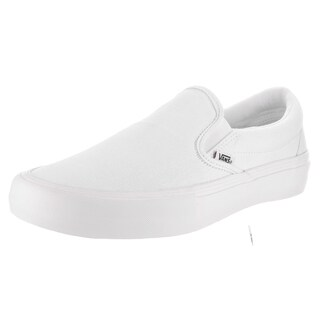 Vans Men's White Suede/Canvas Slip-On Pro Skate Shoe