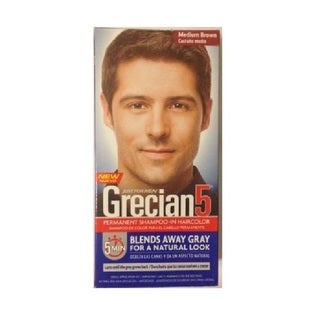 Just Men's Grecian5 Permanent Shampoo-In Haircolor (Medium Brown)