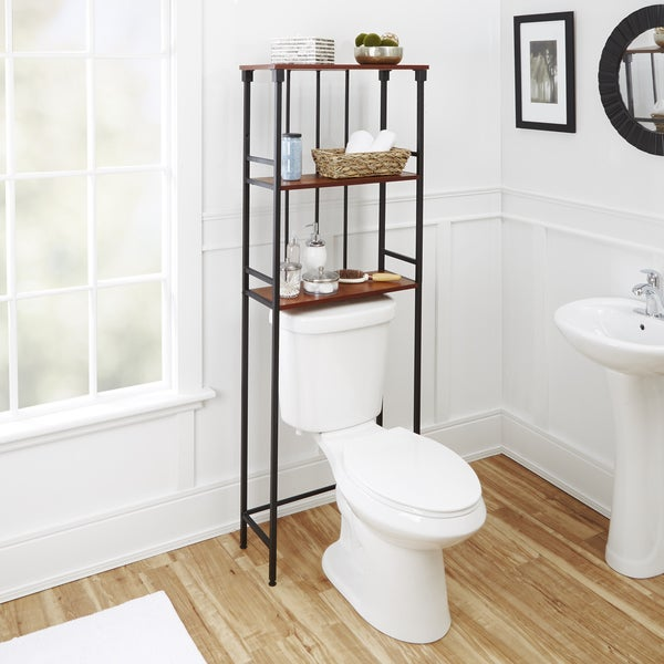 Bathroom Shelf Above Toilet: Shop Mixed Material Bathroom Collection 3-Tier Spacesaver